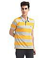 Ruggers Yellow And Grey Heather Striped Polo Shirt