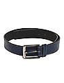 Colt Blue Metallic Buckle Contrast Stitch Belt