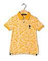 U.S. Polo Assn. Kids Boys Printed Pique Polo Shirt
