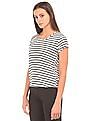 Arrow Woman Tucked Back Striped Top