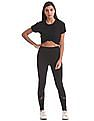 Aeropostale Elasticized Waist Cut-Out Pants