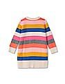 GAP Baby Multi Colour Striped Sweater Dress