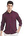 Ruggers Red Mitered Cuff Check Shirt