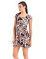 Aeropostale Floral Print Fit And Flare Dress