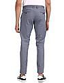 U.S. Polo Assn. Blue Mid Rise Printed Trousers