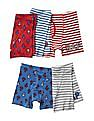 GAP Boys Assorted Americana Anchors Trunks - Pack Of 5