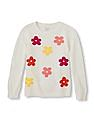 The Children's Place Girls Flower Patterned Knit Sweater