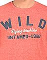 Flying Machine Heathered Printed T-Shirt