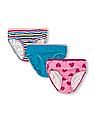 The Children's Place Girls Assorted Cotton Panties - Pack Of 3