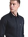 USPA Tailored French Placket Linen Shirt