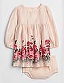 GAP Baby Rose Cinched-Waist Dress