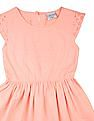 Cherokee Girls Lace Trim Fit And Flare Dress