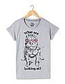 Flying Machine Women Standard Fit Printed T-Shirt