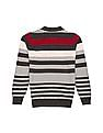 Cherokee Boys Striped Flat Knit Polo Shirt