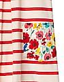 GAP Baby Red Stripe And Floral Pleat Dress