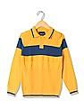 Cherokee Boys Cable Knit Polo Neck Sweater