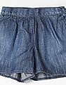 GAP Girls Blue Chambray Knot Bow Soft Shorts