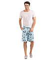 Flying Machine Slim Fit Printed Shorts