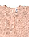 U.S. Polo Assn. Kids Girls Dot Print Ruffle Trim Top
