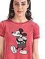 SUGR Red Mickey Mouse Graphic Brushed T-Shirt