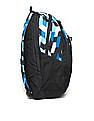 Flying Machine Blue Geometric Print Laptop Backpack