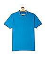 Ruggers Blue Tipped Cotton Pique Polo Shirt