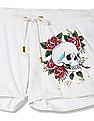 EdHardy Women Skull Print Knit Shorts