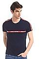 Flying Machine Blue Contrast Taping Cotton T-Shirt