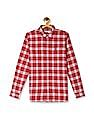 U.S. Polo Assn. Kids Red Boys Check Twill Shirt