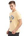 Nautica Short Sleeve Blue Leaves Crew T-Shirt