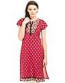 Karigari Notched Round Neck Printed Kurta