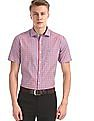 Excalibur Red Short Sleeve Check Shirt