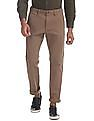 Ruggers Brown Urban Slim Fit Solid Trousers