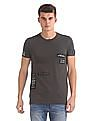 Flying Machine Slim Fit Appliqued T-Shirt