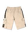 Cherokee Beige Boys Mid Rise Solid Shorts