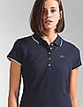 GAP Brand Embellished Pique Polo Shirt