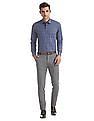 Arrow Newyork Blue Slim Fit Cotton Shirt